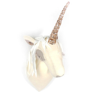 Unicorn Head with Pinkish Goldish Horn