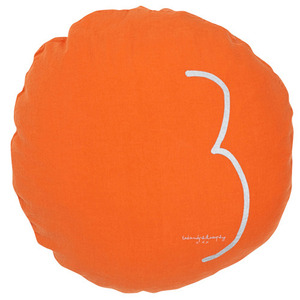 Shining Round Cushion Terracotta 3