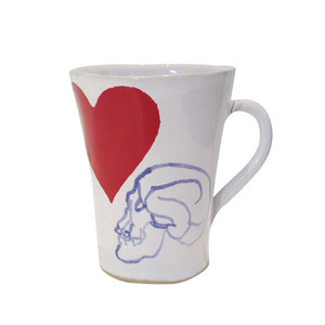 Unique Souvenir Small Cup Skull & Heart [30% sale]