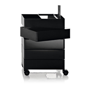 360° Container 5 Drawers Black