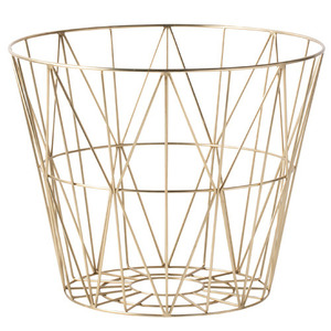 Wire Basket Brass Large (30% sale)