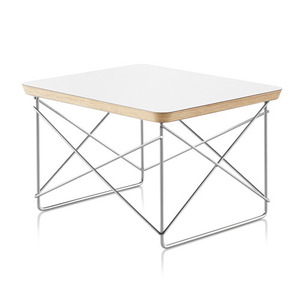 Eames Wire Base Low Table White Top / Crome Base