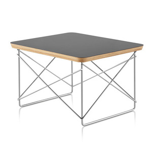 Eames Wire Base Low Table Black Top / Crome Base