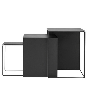 Cluster Tables Black (set of 3)