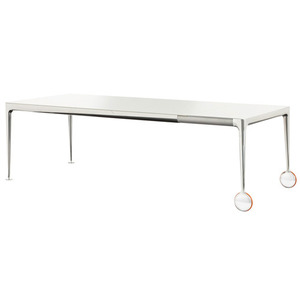 Big Will Extending Table Polished Aluminium White