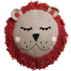 Rust Lion Snuggle Cushion