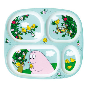 4 Compartments Serving Tray Floral