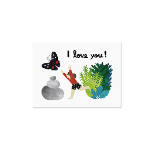 Butterfly and Girl Card