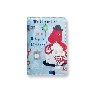 Octopus's Birthday Passport Wallet