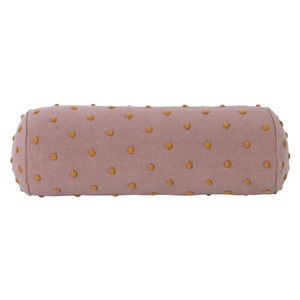 Popcorn Bolster Cushion Dusty Rose