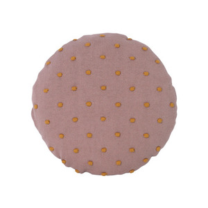 Popcorn Round Cushion Dusty Rose
