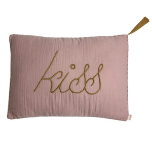 Cushion Message Kiss Dusty Pink