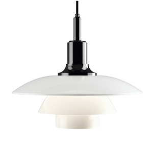 PH 3½-3 Glass Pendant Black