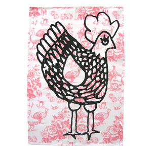 Tea towel -Cocotte rose (50% sale)