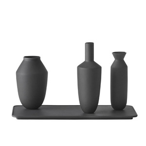 Balance 3 Vases Set Black
