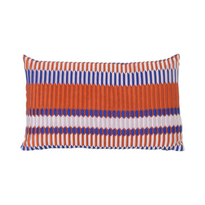 Salon Cushion Pleat Rust 40x25cm