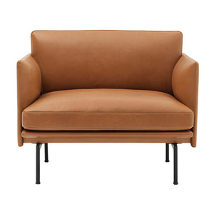 Outline Chair Silk Leather Cognac