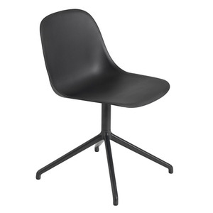 Fiber Side Chair Swivel Base Black