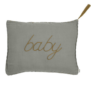 Cushion Message Baby Silver Grey