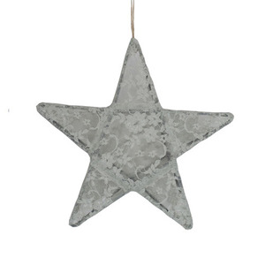 Star Lantern Silver Grey Lace Small