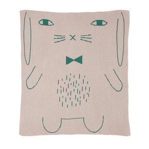 Rabbit Cotton Mini Blanket Pink