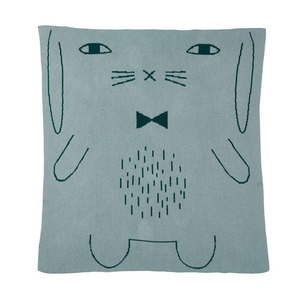 Rabbit Cotton Mini Blanket Duck Egg