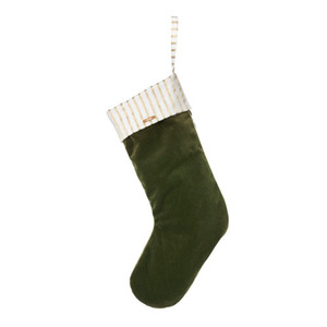 Christmas Velvet Stocking Green