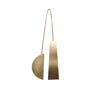 Twin Half Moon Brass Ornament