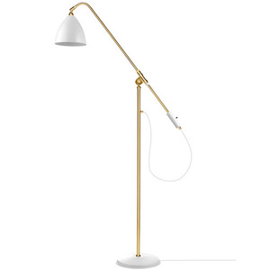 Bestlite BL4 Floor Lamp Brass base/Matt White
