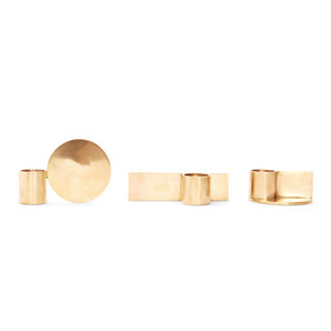 Fundament Candle Holders Brass