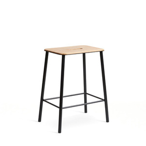 Adam Stool H50  Oak/Matt Black  현 재고