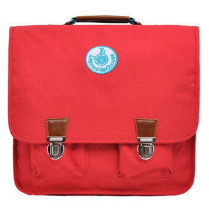 Cartable Vintage Rouge Bande Blue