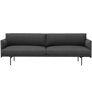 Outline Sofa 3-Seater Textile