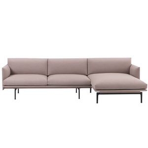 Outline Sofa Chaise Longue  Textile/Black Base