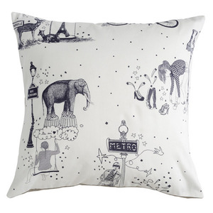 Cushion toile de Jouy grey - 30% sale