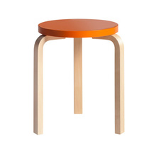 Stool 60 Orange/Birch