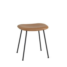 Fiber Stool Tube Base H45cm Silk Leather