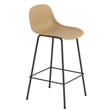 Fiber Bar Stool W. Backrest Tube Base H65cm Plastic