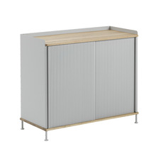 Enfold Sideboard Tall Oak/Grey