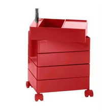 360° Container 5 Drawers Red