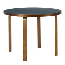 Aalto Table 90A Smokey Blue/Walnut Stained Birch [주문후 5개월 소요]