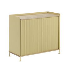 Enfold Sideboard Tall Oak/Sand Yellow