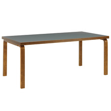 Aalto Table 83 Smokey Blue/Walnut Stained Birch [주문후 5개월 소요]