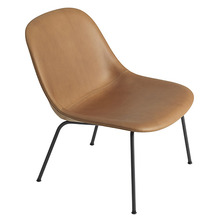 Fiber Lounge Chair Cognac Refine Leather/Black