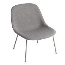 Fiber Lounge Chair Tube Base Remix 133/Grey