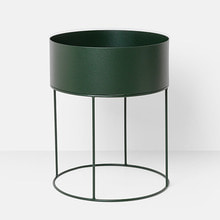 Plant Box Round Dark Green