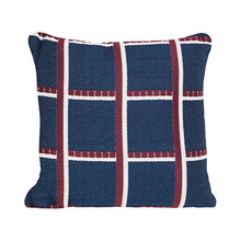 Salon Cushion Checked Blue