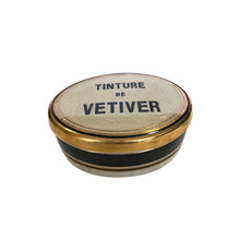 Ceramic Candle Oval Vetiver