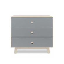 Merlin 3 Drawer Dresser Grey/Birch