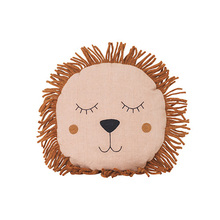 Safari Cushion Lion Rose